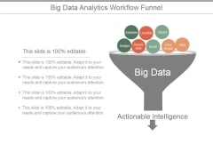 Big Data Analytics Workflow Funnel Ppt PowerPoint Presentation Rules