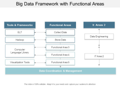Big Data Framework With Functional Areas Ppt Powerpoint Presentation Infographic Template Infographics