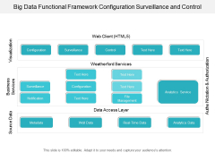Big Data Functional Framework Configuration Surveillance And Control Ppt Powerpoint Presentation File Tips