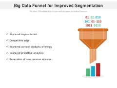 Big Data Funnel For Improved Segmentation Ppt PowerPoint Presentation File Sample PDF