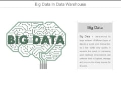 Big Data In Data Warehouse Ppt PowerPoint Presentation Infographic Template