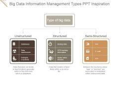 Big Data Information Management Types Ppt PowerPoint Presentation Topics