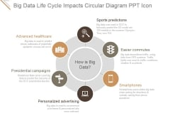 Big Data Life Cycle Impacts Circular Diagram Ppt PowerPoint Presentation Introduction