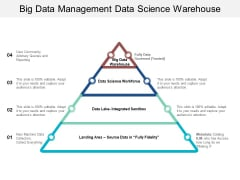 Big Data Management Data Science Warehouse Ppt PowerPoint Presentation Ideas Vector