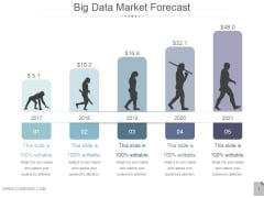Big Data Market Forecast Ppt PowerPoint Presentation Clipart