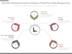Big Data Marketing Analytics Diagram Powerpoint Slide Backgrounds