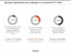 Big Data Opportunities And Challenges In Construction Ppt PowerPoint Presentation Outline