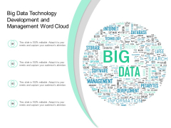 Big Data Technology Development And Management Word Cloud Ppt PowerPoint Presentation File Background Image
