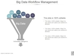 Big Data Workflow Management Ppt PowerPoint Presentation Introduction
