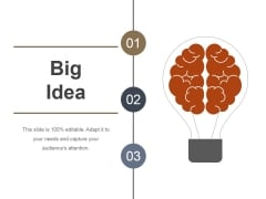 Big Idea Ppt PowerPoint Presentation Visual Aids
