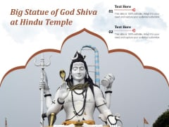 Big Statue Of God Shiva At Hindu Temple Ppt PowerPoint Presentation File Background Image PDF