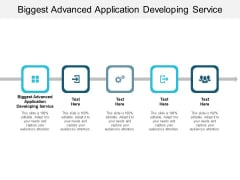 Biggest Advanced Application Developing Service Ppt PowerPoint Presentation Professional Topics Cpb