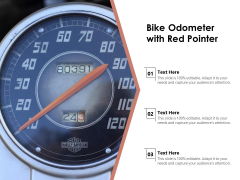 Bike Odometer With Red Pointer Ppt PowerPoint Presentation Pictures Templates PDF