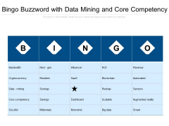 Bingo Buzzword With Data Mining And Core Competency Ppt PowerPoint Presentation Gallery Example PDF