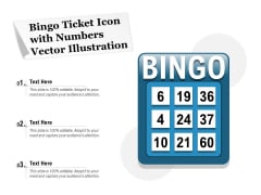 Bingo Ticket Icon With Numbers Vector Illustration Ppt PowerPoint Presentation File Background Images PDF