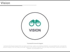 Binocular For Future Vision And Planning Powerpoint Slides