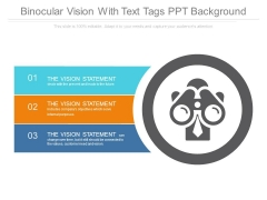Binocular Vision With Text Tags Ppt Background