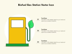 Biofuel Gas Station Vector Icon Ppt PowerPoint Presentation File Background Images PDF