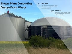 Biogas Plant Converting Energy From Waste Ppt Pictures Icons PDF