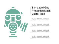 Biohazard Gas Protection Mask Vector Icon Ppt Powerpoint Presentation Summary Skills