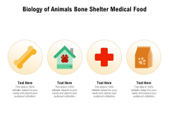 Biology Of Animals Bone Shelter Medical Food Ppt PowerPoint Presentation Icon Infographic Template PDF
