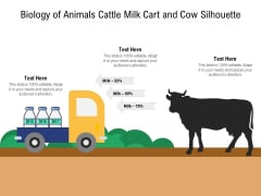 Biology Of Animals Cattle Milk Cart And Cow Silhouette Ppt PowerPoint Presentation Gallery Mockup PDF