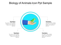 Biology Of Animals Icon Ppt Sample Ppt PowerPoint Presentation Gallery Portrait PDF