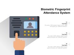 Biometric Fingerprint Attendance System Ppt PowerPoint Presentation Professional Graphics Tutorials PDF