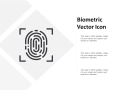 Biometric Vector Icon Ppt PowerPoint Presentation Infographics Layout