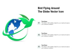 Bird Flying Around The Globe Vector Icon Ppt PowerPoint Presentation Gallery Deck PDF