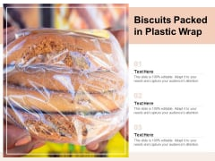 Biscuits Packed In Plastic Wrap Ppt PowerPoint Presentation Outline Information PDF