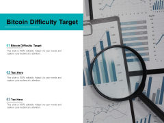 Bitcoin Difficulty Target Ppt PowerPoint Presentation Inspiration Elements Cpb Pdf