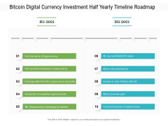 Bitcoin Digital Currency Investment Half Yearly Timeline Roadmap Formats