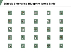 Bizbok Enterprise Blueprint Icons Slide Vision Ideabulb Ppt PowerPoint Presentation Infographic Template Show