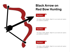 Black Arrow On Red Bow Hunting Ppt PowerPoint Presentation Ideas Designs Download