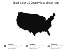 Black Color US Country Map Vector Icon Ppt PowerPoint Presentation Gallery Examples PDF