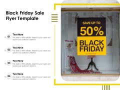 Black Friday Sale Flyer Template Ppt PowerPoint Presentation Gallery Portfolio PDF