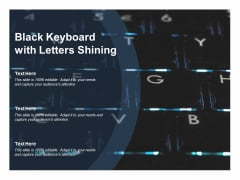 Black Keyboard With Letters Shining Ppt PowerPoint Presentation File Ideas