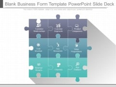 Blank Business Form Template Powerpoint Slide Deck