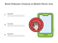 Block Unknown Contacts In Mobile Vector Icon Ppt PowerPoint Presentation Portfolio Slide PDF