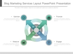 Blog Marketing Services Layout Powerpoint Presentation