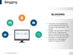 Blogging Ppt PowerPoint Presentation Visual Aids Files