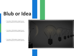 Blub Or Idea Innovation Ppt PowerPoint Presentation Icon Example File