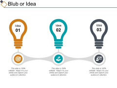 Blub Or Idea Ppt PowerPoint Presentation Ideas Show