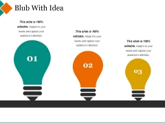 Blub With Idea Ppt PowerPoint Presentation Ideas Grid