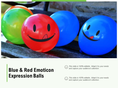 Blue And Red Emoticon Expression Balls Ppt PowerPoint Presentation Infographic Template Icon