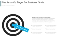 Blue Arrow On Target For Business Goals Powerpoint Slides