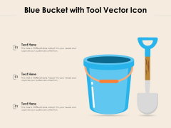 Blue Bucket With Tool Vector Icon Ppt PowerPoint Presentation Icon Ideas PDF