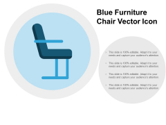Blue Furniture Chair Vector Icon Ppt PowerPoint Presentation Ideas Graphics Pictures