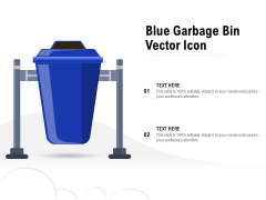 Blue Garbage Bin Vector Icon Ppt PowerPoint Presentation Infographics PDF